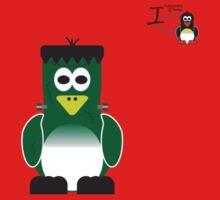 Halloween Penguin - Frankenstein Kids Clothes