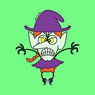 Scary Halloween Witch Emoticon by Zoo-co