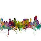 Tulsa Oklahoma Skyline by Michael Tompsett