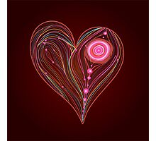 Abstract vector heart Photographic Print
