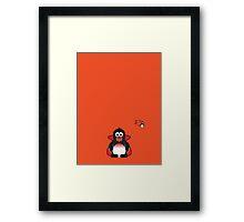 Halloween Penguin - Dracula Framed Print