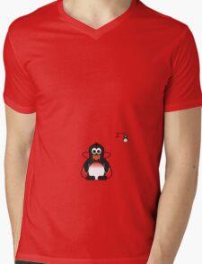 Halloween Penguin - Dracula Mens V-Neck T-Shirt