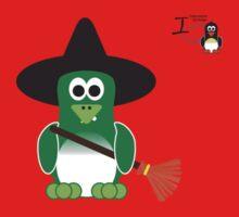 Halloween Penguin - Witch Kids Tee