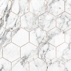Rose gold and marble honeycomb by peggieprints