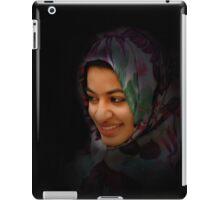 Hooded Scarf lady iPad Case/Skin
