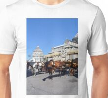 8 August 2016 Turists in Piazza dei Miracoli,Piazza del Duomo, located in the city of Pisa, Toscany, Italy. View from the famous leaning tower of Pisa, showing the cathedral and the baptistry. Unisex T-Shirt