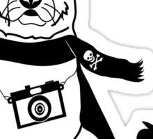 Hipster German Shepherd / Alsatian - Cute Dog Cartoon Character Sticker