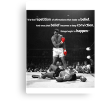 Muhammad Ali Quote Canvas Print