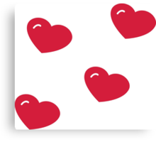 Heart Pattern V3 Canvas Print