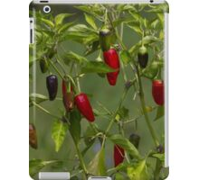 red and blue chili iPad Case/Skin