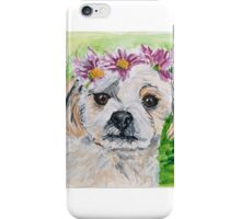 Charlotte, the planking puppy who loves to be loved iPhone Case/Skin