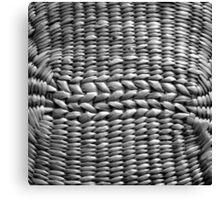 Basket weave Canvas Print