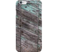 old wooden door iPhone Case/Skin