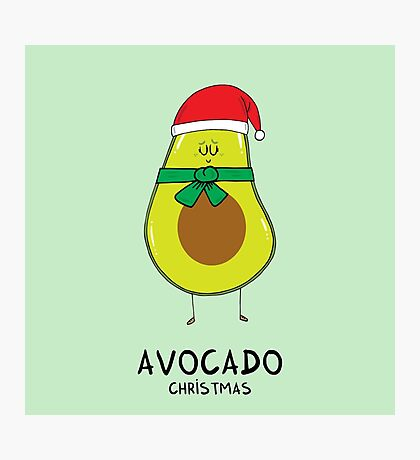 Avocado Christmas Photographic Print