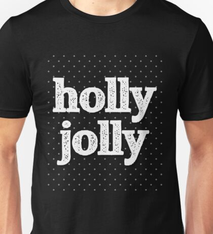 Vintage Style Christmas: Holly Jolly Unisex T-Shirt