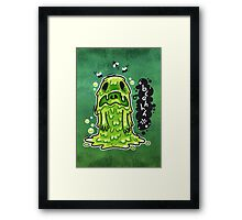 Cartoon Nausea Monster Framed Print