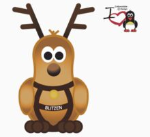 Christmas Penguin - Blitzen by jimcwood