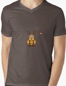 Christmas Penguin - Blitzen Mens V-Neck T-Shirt