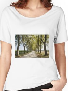 Sauternes,  a road between vineyards  Women's Relaxed Fit T-Shirt