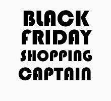 BLACK FRIDAY SHOPPING CAPTAIN Womens Fitted T-Shirt