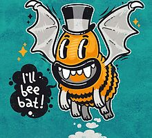 Cartoon Monster I'll Bee Bat by Voysla