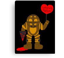 Bigdaddy welcome to rapture Bioshock Canvas Print
