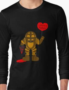 Bigdaddy welcome to rapture Bioshock Long Sleeve T-Shirt