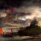 The Northmen Storm Lindisfarne by Vanessa Barklay