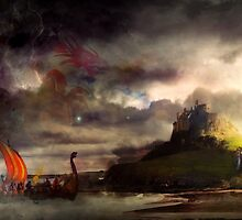 The Northmen Storm Lindisfarne by Vanessa Barklay