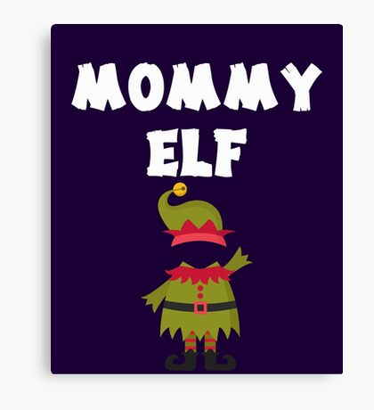 Mommy Elf Cute Hat Family Party Gift Canvas Print