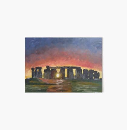Stonehenge Sunset on the Winter Solstice Art Board