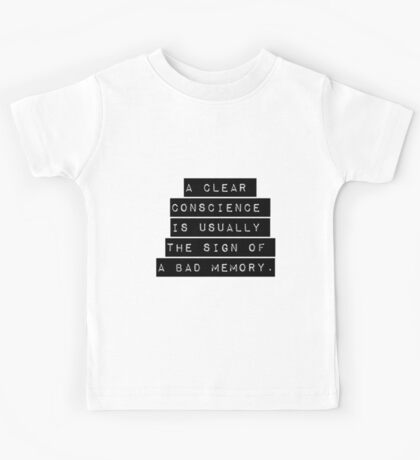 A Clear Conscience Kids Tee