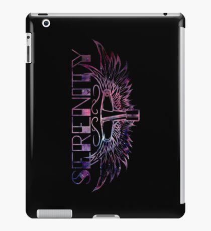 Serenity Drums Pink Nebula Logo - Black iPad Case/Skin