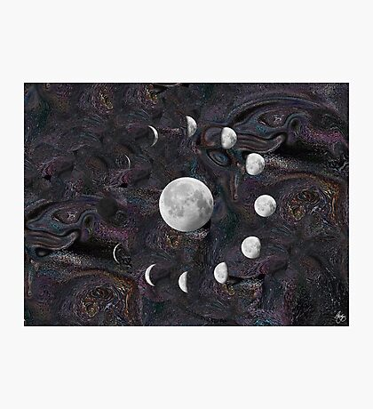 Moon Phases in an Imagined Universe Photographic Print