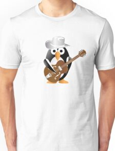 Funny penguin with guitar Unisex T-Shirt