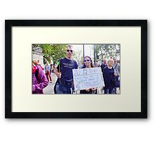 Good thinking. Framed Print