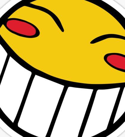 Cowboy Bebop Radical Ed Smiley Face Sticker