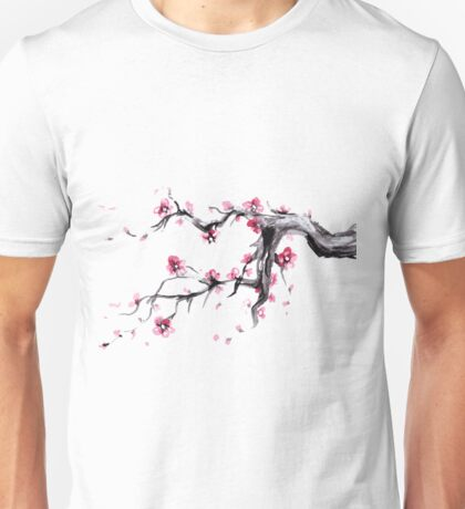 Watercolor Spring blossoms - japanese symbol Unisex T-Shirt