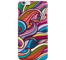 Colorful seamless abstract waves hand-drawn pattern iPhone Case/Skin