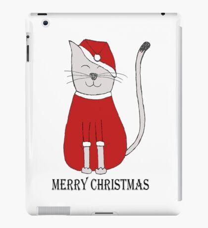 cute cat illustration christmas iPad Case/Skin