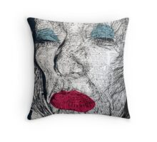 yesterdays news...Patina Bang Throw Pillow