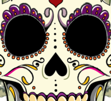 Vintage Skull and Flowers Sticker