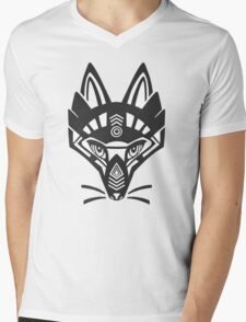 Fox shaman Mens V-Neck T-Shirt