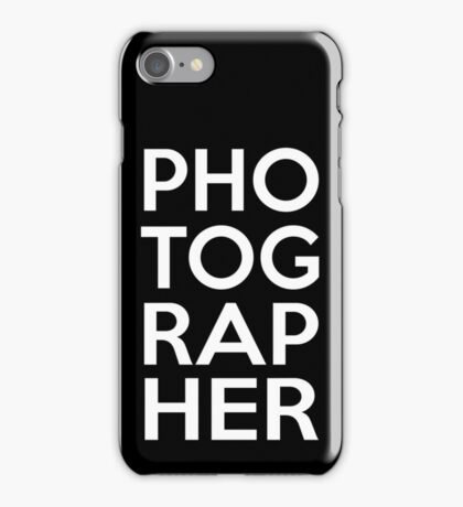 Photographer Awesome Design iPhone Case/Skin