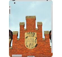 Old Market Hall with a Coat of Arms of Bydgoszcz, Poland iPad Case/Skin