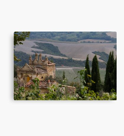 old and abandoned cemetery Canvas Print