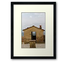 old and abandoned cemetery Framed Print