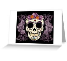 Vintage Skull and Roses Greeting Card