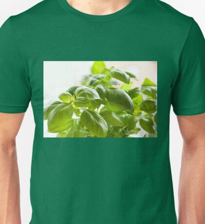 Fresh Ocimum basilicum foliage Unisex T-Shirt
