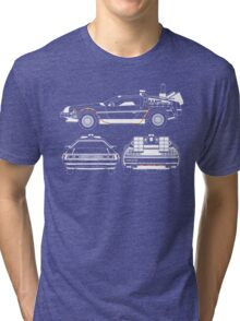 Delorean DMC Back to the Future Tri-blend T-Shirt
